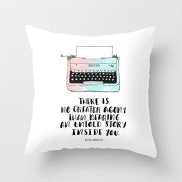 WRITE Throw Pillow