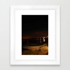 Jetty in the Sand Framed Art Print