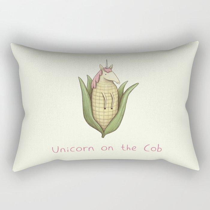 Unicorn on the Cob Rectangular Pillow