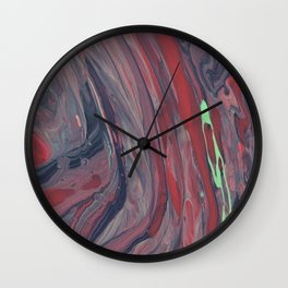 Paint Pouring 53 Wall Clock