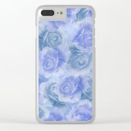 Rosey Blue Clear iPhone Case