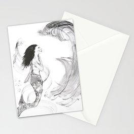 Mermaid in Black Ink Stationery Cards