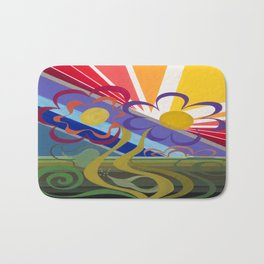 Flower Horizon Bath Mat