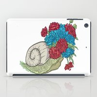 snail iPad Cases featuring Snail by Guapo