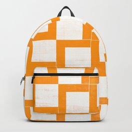 Orange Geometric Shapes On Japanese Paper Backpack
