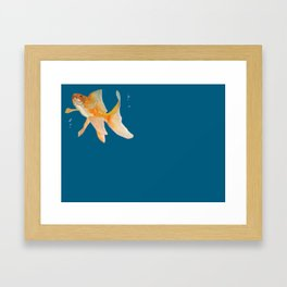 Fish & Bubbles Framed Art Print