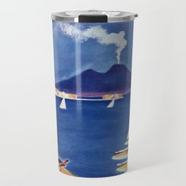 Napels Italy retro vintage travel ad Travel Mug