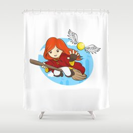 HP - Snitch Catcher - Ginger girl Shower Curtain