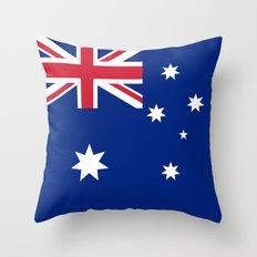 Flag of Australia - Authentic High Quality image Throw Pillow