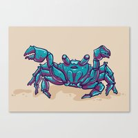 crab Canvas Prints featuring Crab by Jenji