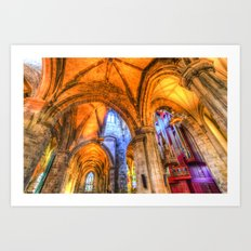 St Giles Cathedral Edinburgh Scotland Art Print