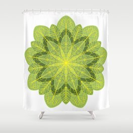 Heart Chakra Mandala Shower Curtain