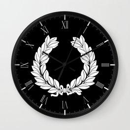 Laurel Half Tone Wall Clock