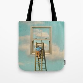 Window cleaner in the sky 02 Tote Bag