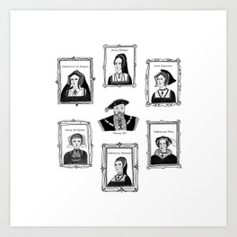 Henry VIII and his wives Art Print
