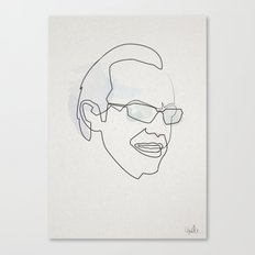 Onbe Line Matrix: Agent Smith Canvas Print