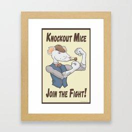 Knockout Mice Framed Art Print