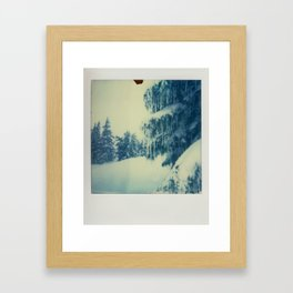 Mt Hood Snow - Polaroid Framed Art Print