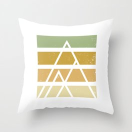 Desert color landscape Throw Pillow