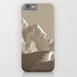 Alaskan Mts. - Mono I iPhone Case