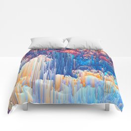 Glitches in the Clouds Comforters