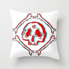 s k u l l & b o n e s Throw Pillow
