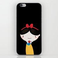 snow white iPhone & iPod Skins featuring Snow white by Maria Jose Da Luz