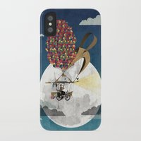 brompton iPhone & iPod Cases featuring Flying Bicycle by Wyatt Design