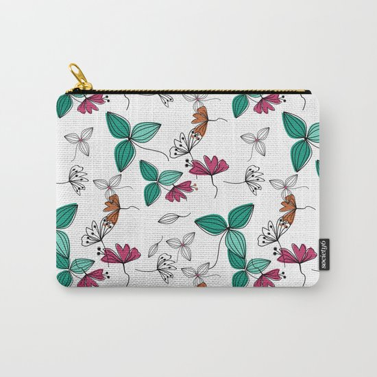 Retro .Floral pattern Rustic Carry-All Pouch