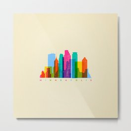 City landscape of Minneapolis, Minnesota Metal Print