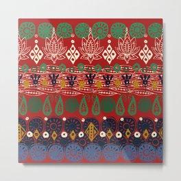 lotus block Christmas Metal Print