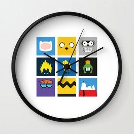 Minimalist Cartoon Wall Clock