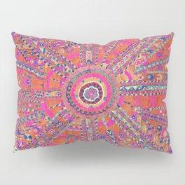 Large Medallion Suzani  Antique Uzbekistan Embroidery Print Pillow Sham