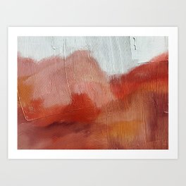Desert Journey [2]: a textured, abstract piece in pinks, reds, and white by Alyssa Hamilton Art Art Print