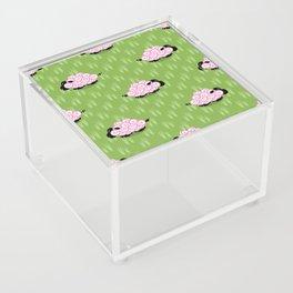 Pastel Sheep Pattern Acrylic Box
