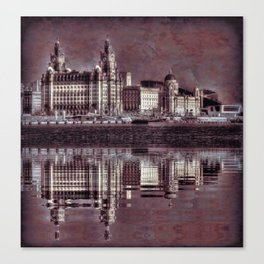 thee graces reflected Canvas Print