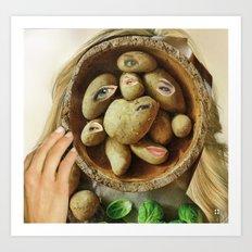 Sie hat Kartoffelaugen Art Print