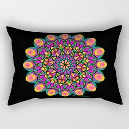 Flower Lace Mandala Rectangular Pillow