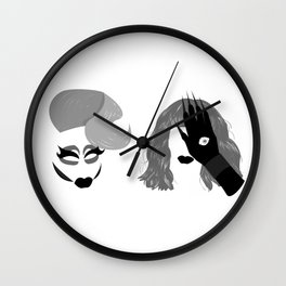 Trixie and Katya Wall Clock