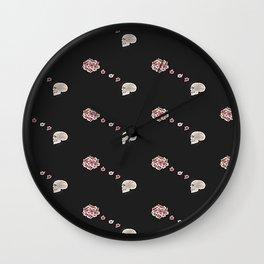 Flourish black pattern Wall Clock