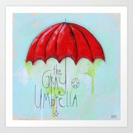 The Gray Umbrella Art Print