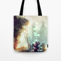 uncharted Tote Bags featuring Uncharted by Zomby Robin
