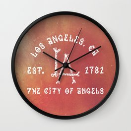 The City of Angels Wall Clock
