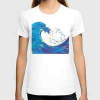 hokusai T-shirts featuring Hokusai Rainbow & rotating dolphins_D by FACTORIE