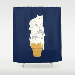 Meowlting Shower Curtain