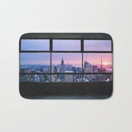 New York City Skyline Views Bath Mat