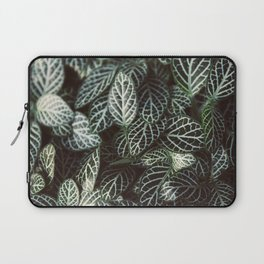 Botanical Gardens - Zebra Leaf #398 Laptop Sleeve