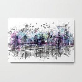 Modern Art NEW YORK CITY Skyline | Splashes Metal Print