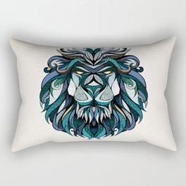 Blue Lion Rectangular Pillow