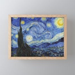 Starry Night by Vincent Van Gogh Framed Mini Art Print